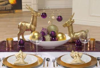 decoracao-mesa-natal-roxo-dourado-imagens