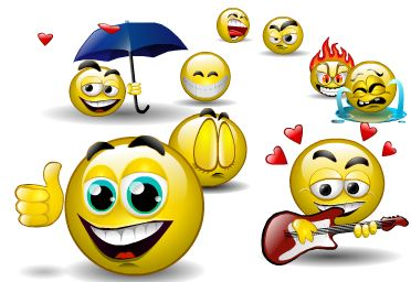Sentimentality - A bunch of smileys sourced from Google Images.