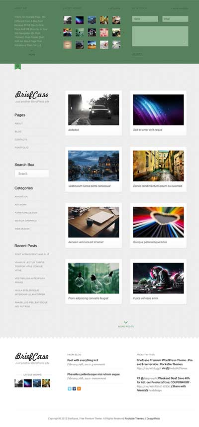 briefcase free wordpress theme