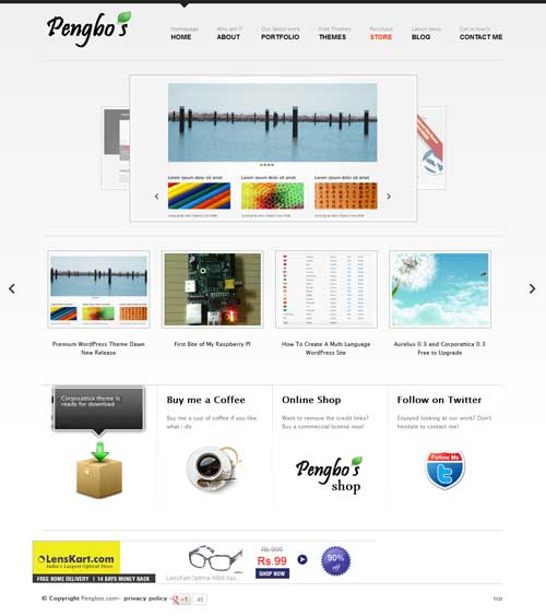 aurelius free wordpress portfolio theme