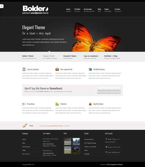 bolder free portfolio theme