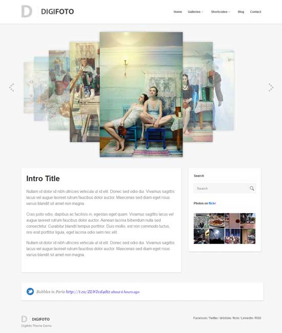digifoto free portfolio theme wordpress