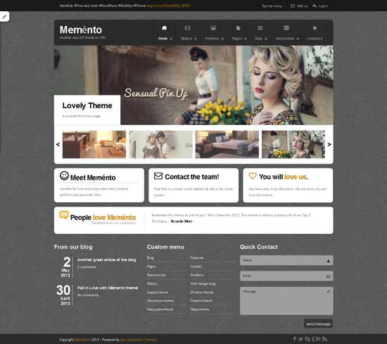 free wordpress theme memento