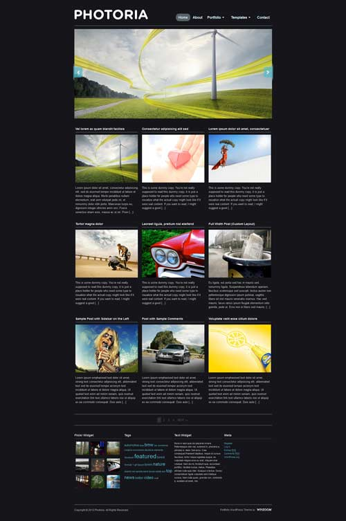 photoria wordpress theme