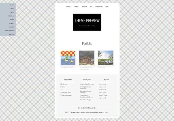 pure ii wordpress theme free