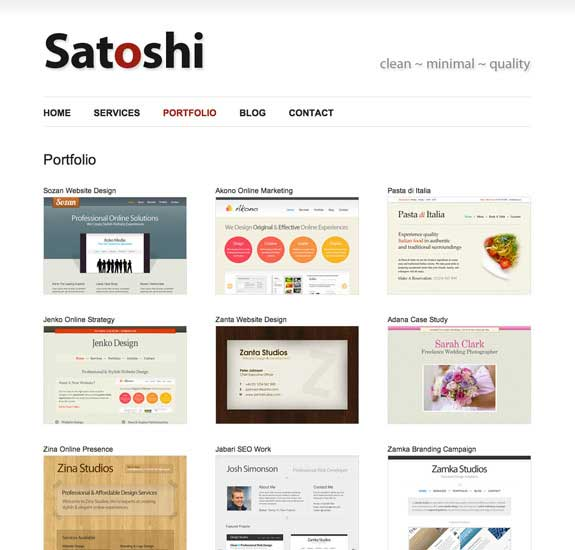 santoshi wordpress theme