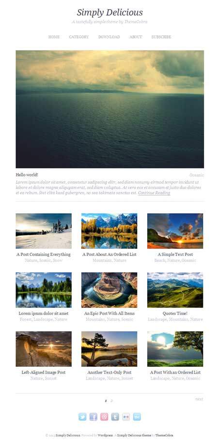 simply delicious free wordpress theme update