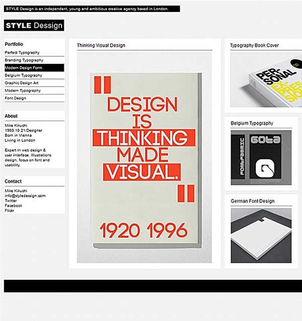 Style WordPress portfolio theme