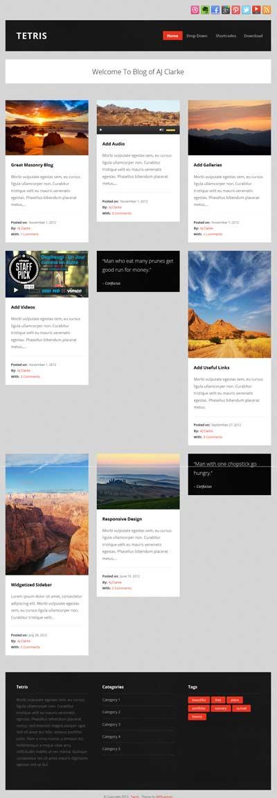 tetris wordpress themes