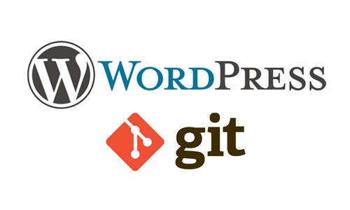 WordPress git integration version control 2015