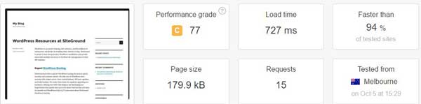 Fourth website test with caching