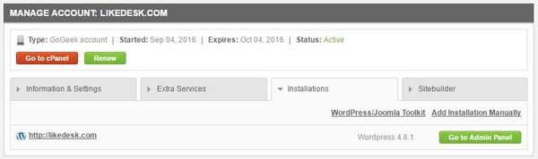 Total WordPress installations