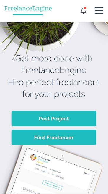 Freelance Engine Mobile Theme WordPress