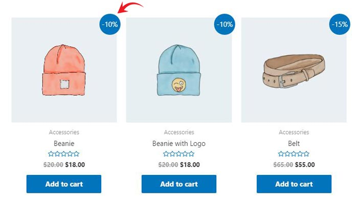 percentage sale woocommerce