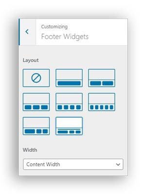 footer widgets in astra