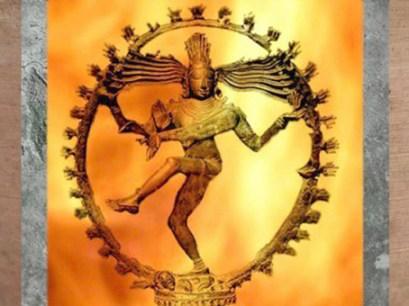 D'après la danse de Shiva Natarâja dans sa roue de flammes, art Chola, bronze, XIe siècle, Inde médiévale. (Marsailly/Bogostelle)