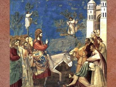 D'après Jésus à Jérusalem, fresque de Giotto, chapelle Scrovegni, début XIVe siècle, Padoue, Italie. (Marsailly/Blogostelle)
