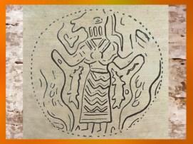 D'après le thème du Maître des Animaux, glyptique, vers 3800 avjc, Suse, Iran. (Marsailly/Blogostelle)