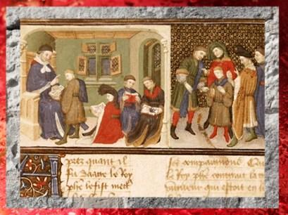 D'après l'instruction d'Alexandre par Aristote, la Vraye Histoire du Bon Roy Alixandre, XVe siècle apjc. (Marsailly/Blogostelle.)