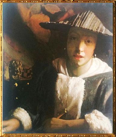 D'après La Jeune Femme à la Flûte, Johannes Vermeer, 1665-1670 apjc. (Marsailly/Blogostelle)