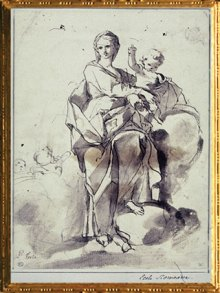 D'après L'Immaculée Conception, Pietro Testa, 1612-1650, école florentine, XVIIe siècle. (Marsailly/Blogostelle)