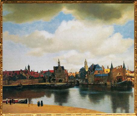 D'après La Vue de Delft, Johannes Vermeer, 1660-1661, IVM. (Marsailly/Blogostelle)
