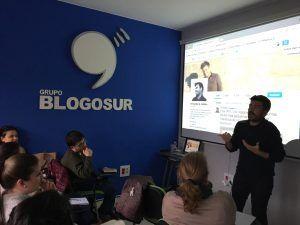Fernando G. Haldón, durante su visita al curso de Community Manager de Blogosur
