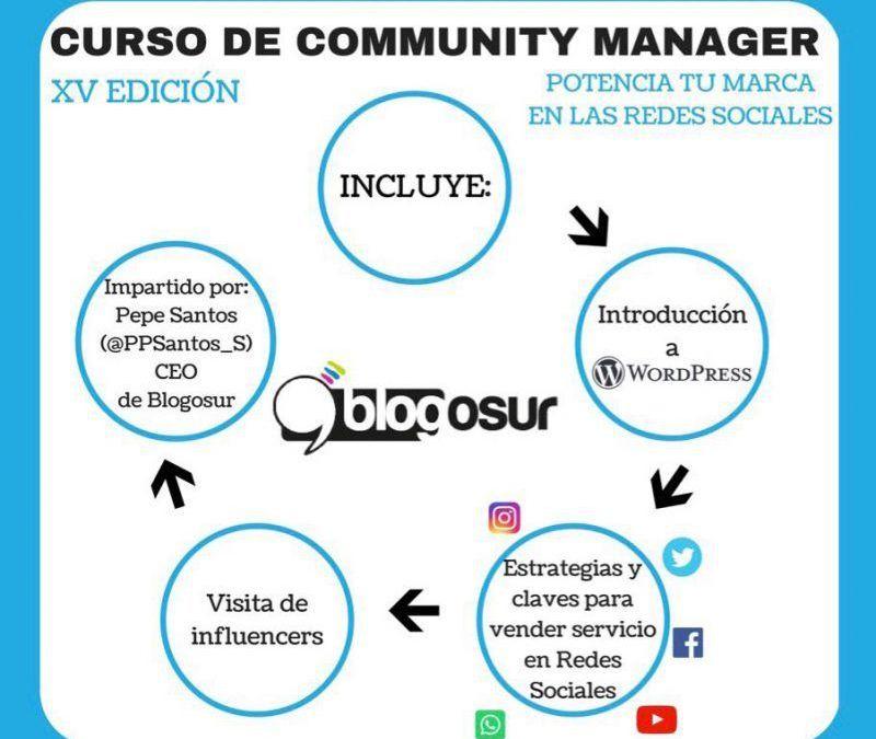 Blogosur prepara la XV Edición del Curso de Community Manager – Junio 2018