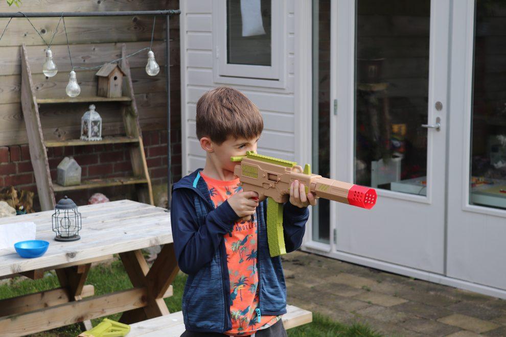 Paper Shooter: mini-gun met demper