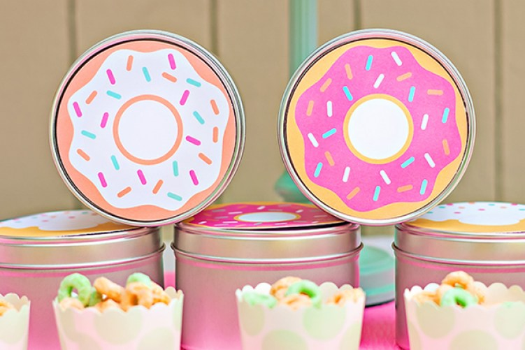 ideias festa donuts