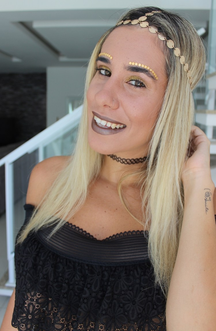 maquiagem fantasia cigana