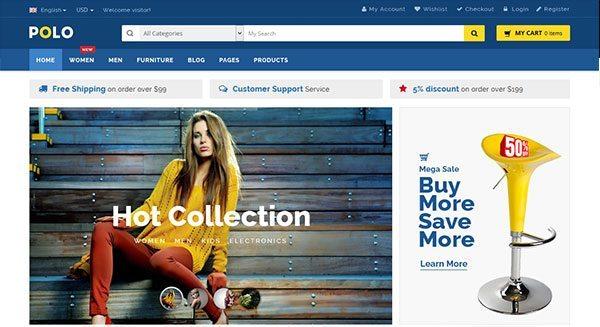 polo theme wordpress creer boutique en ligne vendre facilement internet
