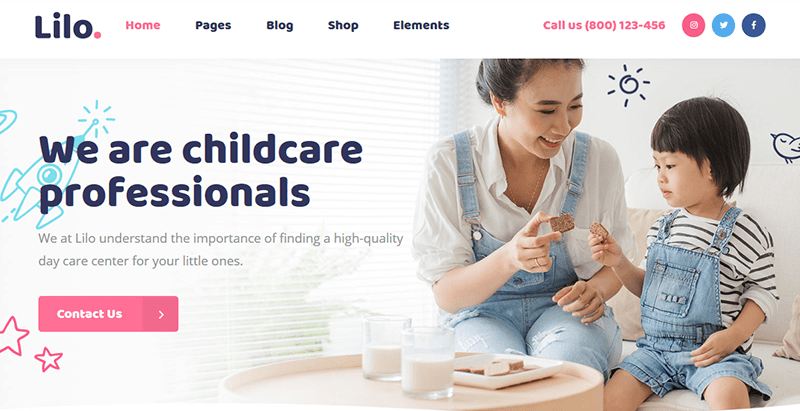 Lilo Themes Wordpress Creer Site Web Pour Enfant