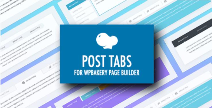 Đăng tab cho trình tạo trang wpbakery plugin trình soạn nhạc trực quan wordpress