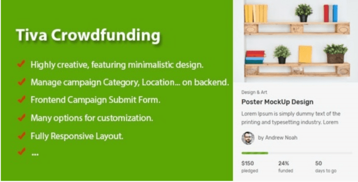 Tiva crowdfunding wordpress crowdfunding system