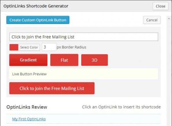 OptinLinks-Form-Shortcode-генератор