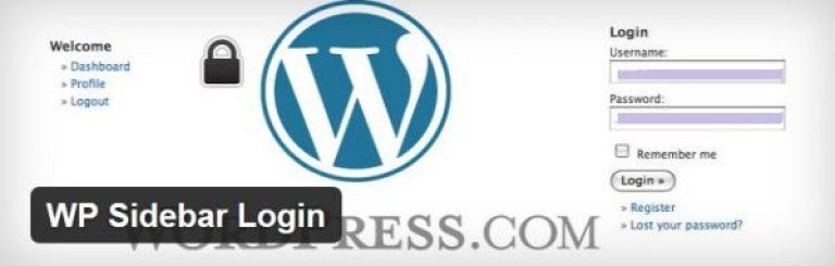 WP Sidebar-Login
