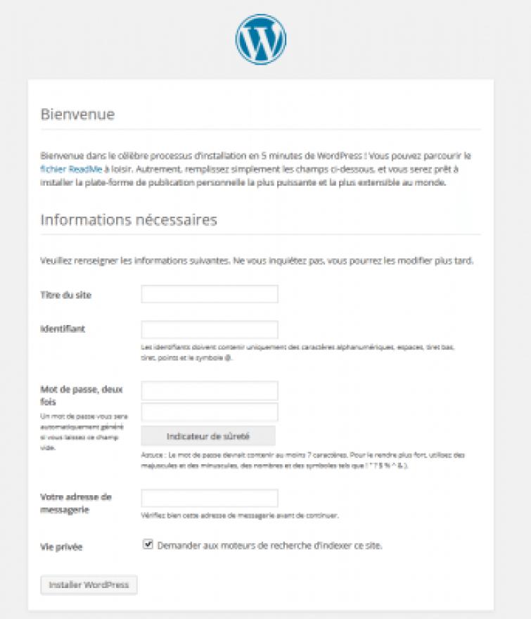 XAMPP-installation- WordPress- cinq- minutes