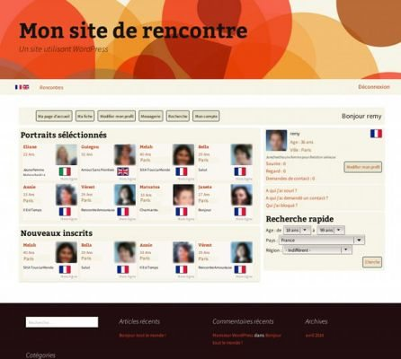 Plugin wordpress site de rencontre