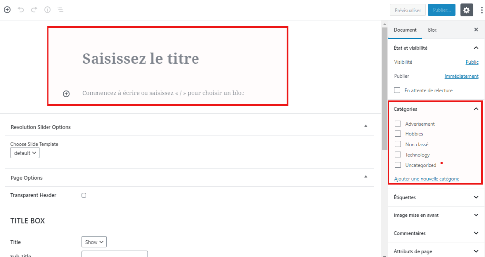 Comment attribuer categories pages wordpress blogpascher