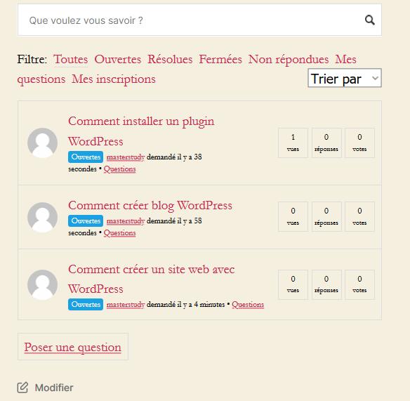 웹 사이트 질문 답변을 만드는 방법 wordpress blogpascher 사용자 인터페이스
