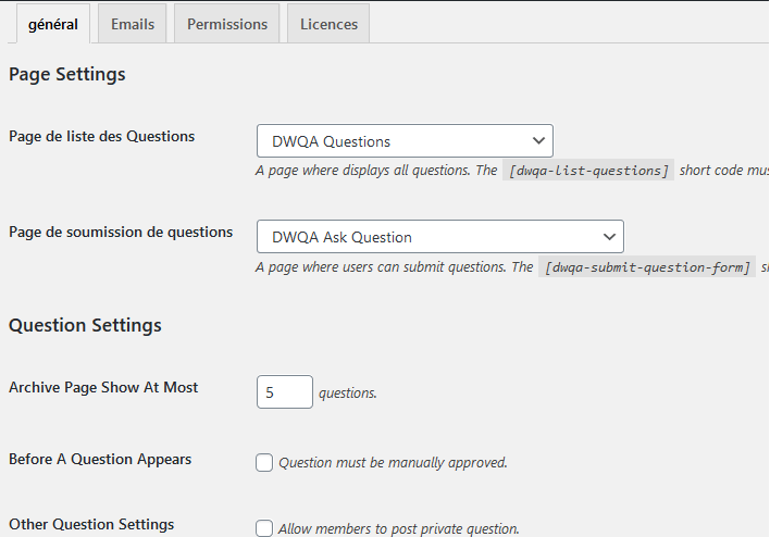 웹 사이트 질문 답변을 만드는 방법 wordpress blogpascher 매개 변수