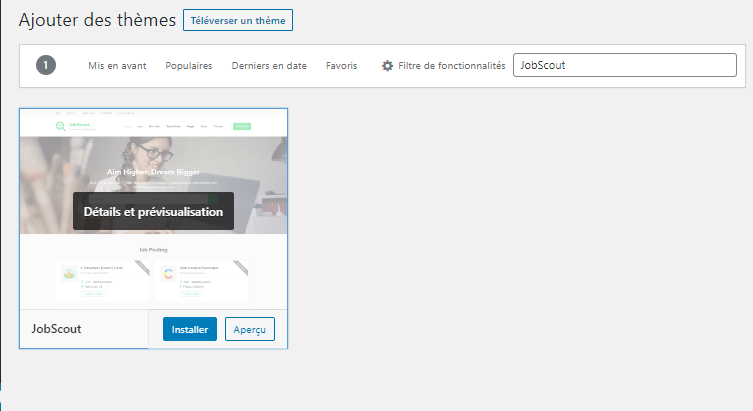 comment rechercher installer activer theme wordpress blog blogpascher 3