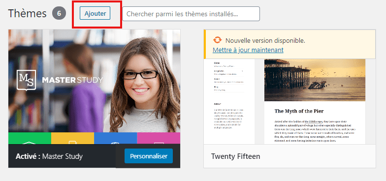 comment rechercher installer activer theme wordpress blog blogpascher 5