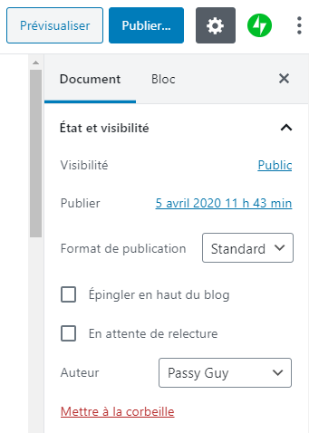 planifier article blog WordPress 3