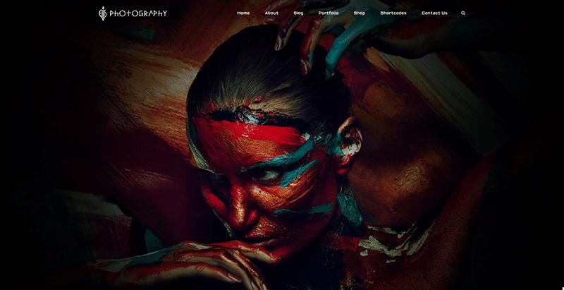 Fullscreen artists themes wordpress creer site web art