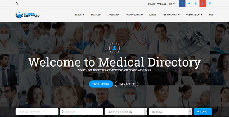 Medical directory themes wordpress creer site web annonces listing annuaire directory