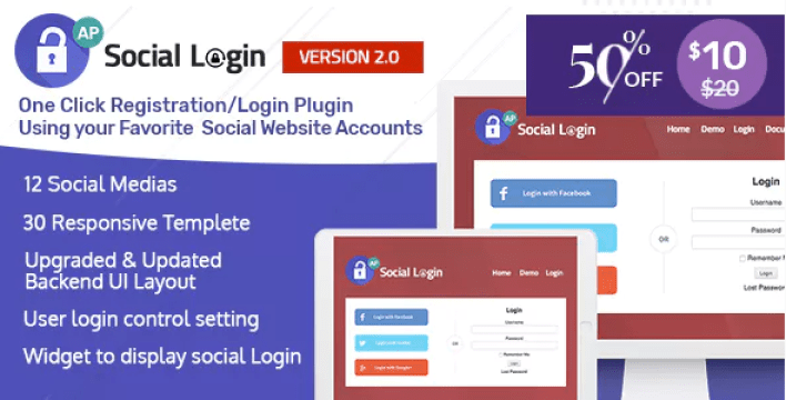 Social login wordpress plugin accesspress social login