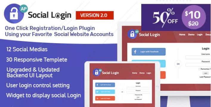Login social wordpress plugin accesspress social login