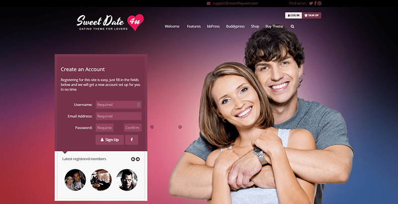 Sweet date themes wordpress creer reseau social buddypress
